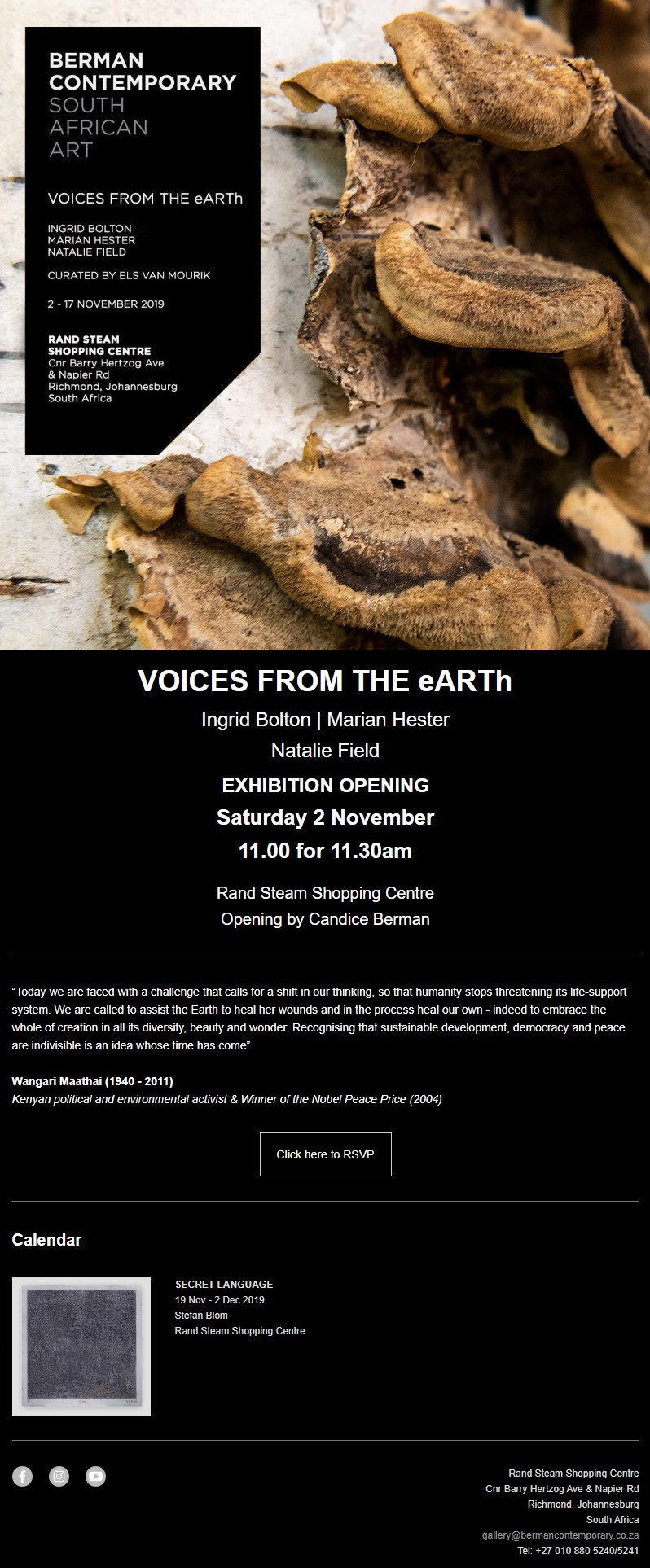 Voices from the eARTh echibition opening